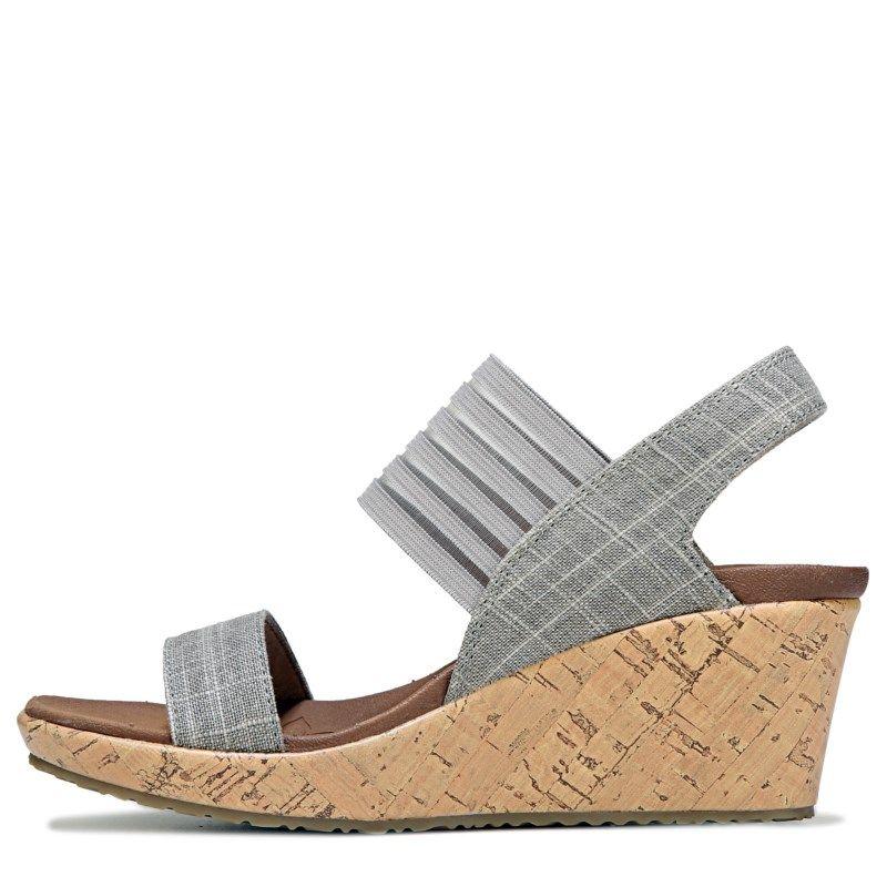 692ece6454aa Skechers Women s Beverlee Smitten Kitten Wedge Sandals (Taupe)