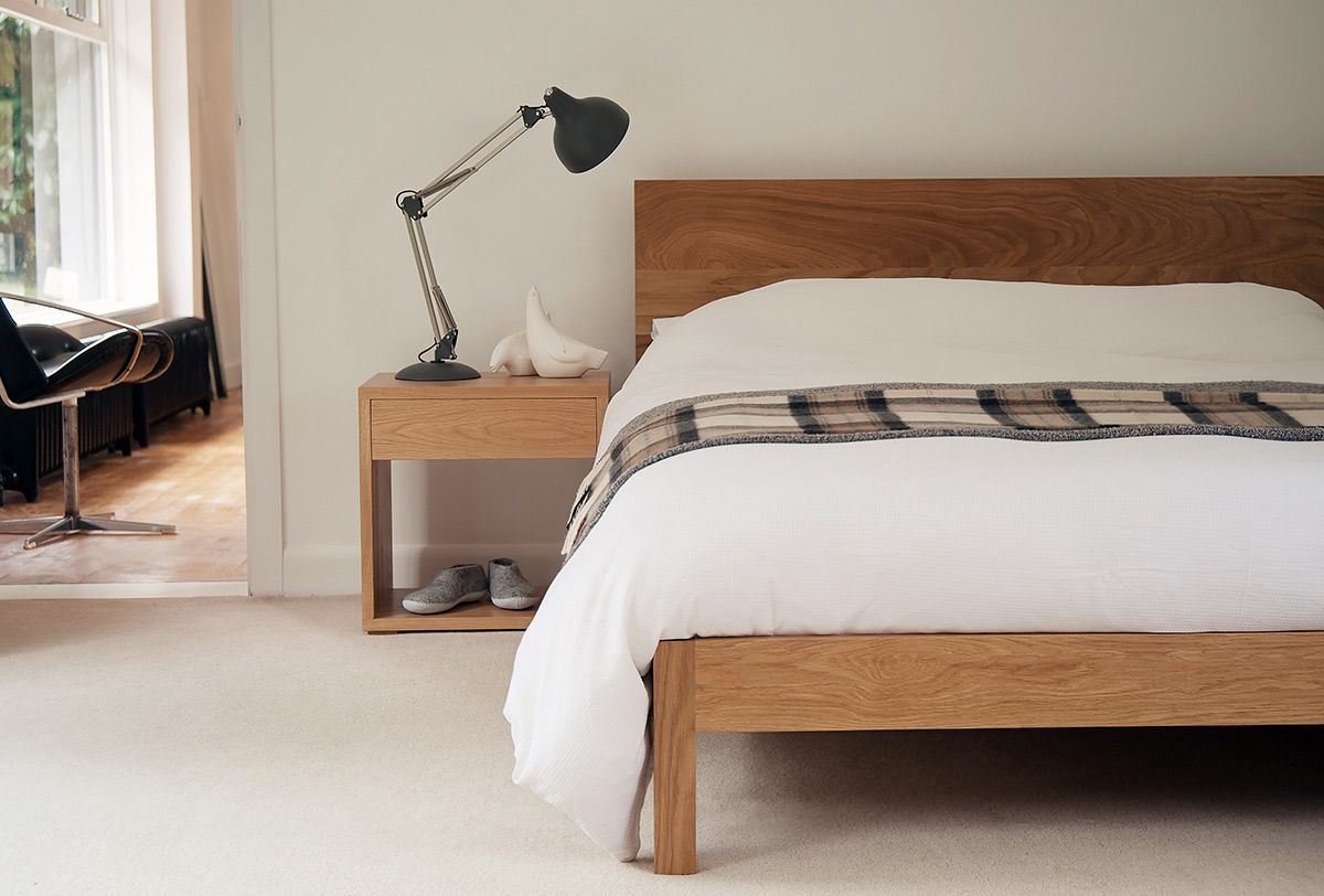 Modern oak bed malabar furniture pinterest oak beds