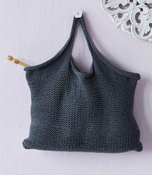 Free knitting pattern for tote bag | Knitting | Pinterest | Bolsos ...