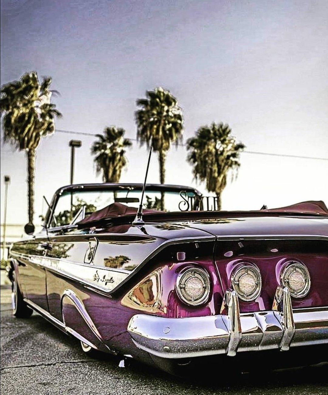 61 Chevy Impala Rag Low Low インパラ アメ車のローライダー ローライダーアート