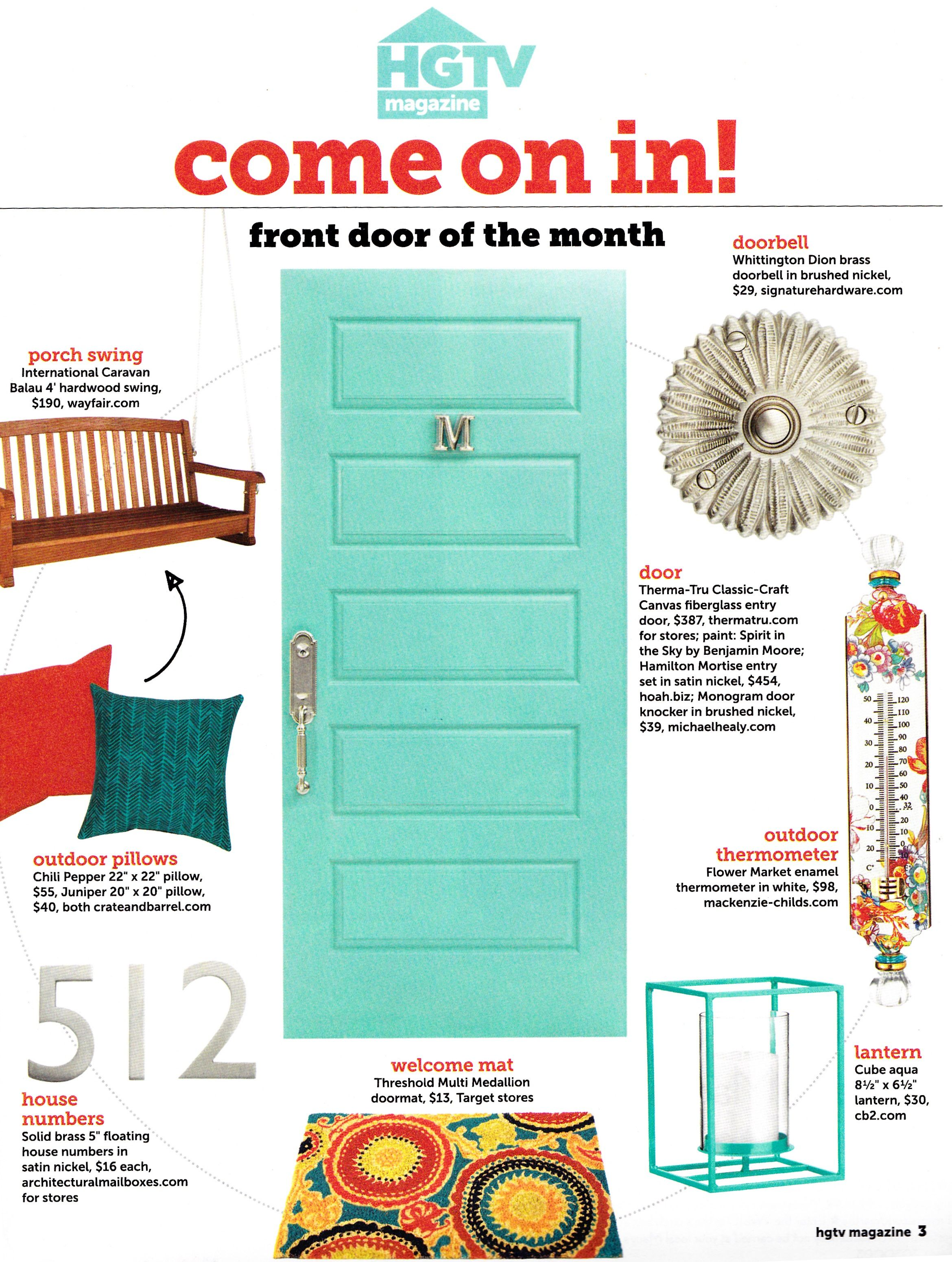 Front Door Of The Month Diy Projects To Try Pinterest Front