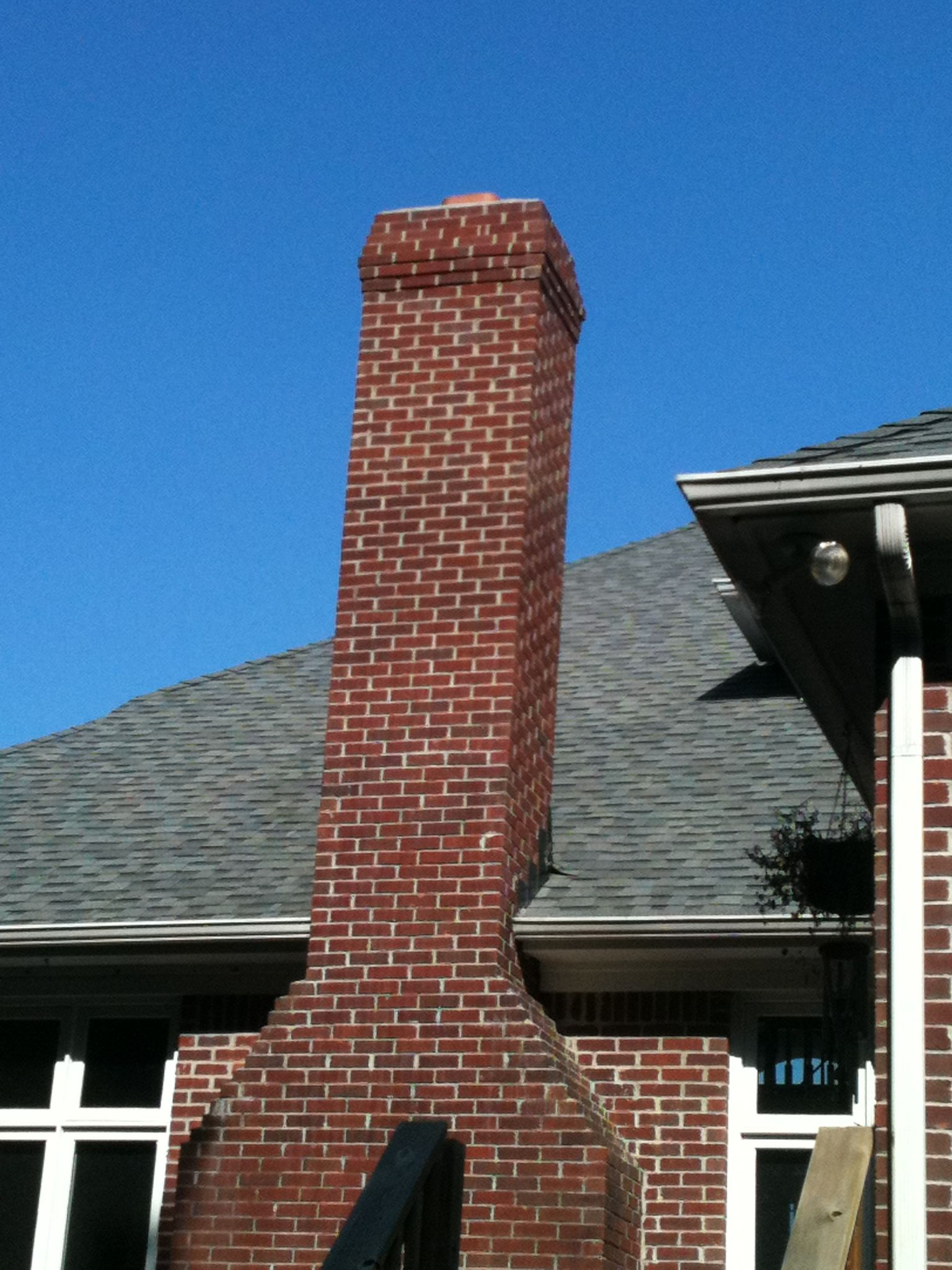 how to build a stone chimney stack