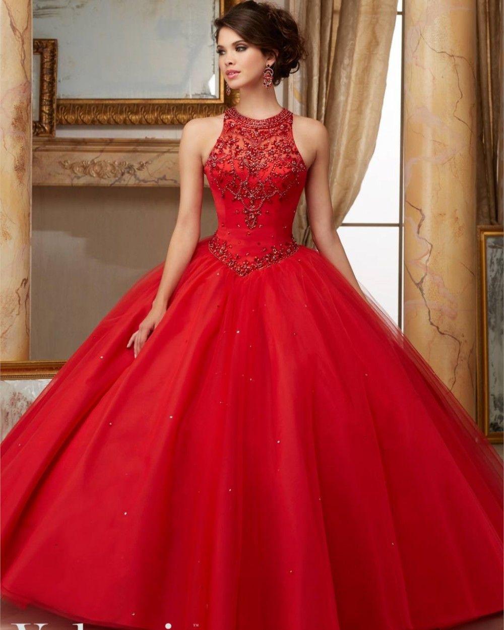 Scarlet-Red-Corset-font-b-Quinceanera-b-font-font-b-Dress-b-font ...