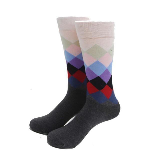 Men Colorful Fashion Print Socks - 18 Styles