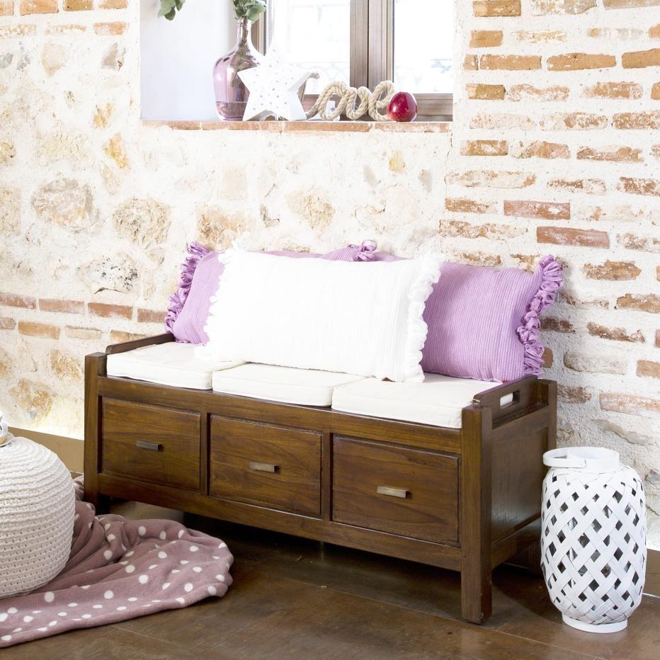 Nest mueble descalzador con cojines | Muebles, Decoraciones