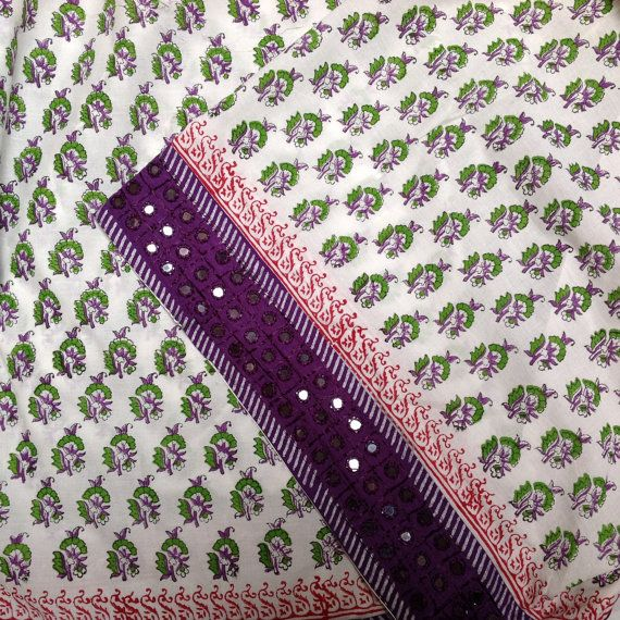 Fabric floral Indian cotton with handmade by UPGFabricAnnex
