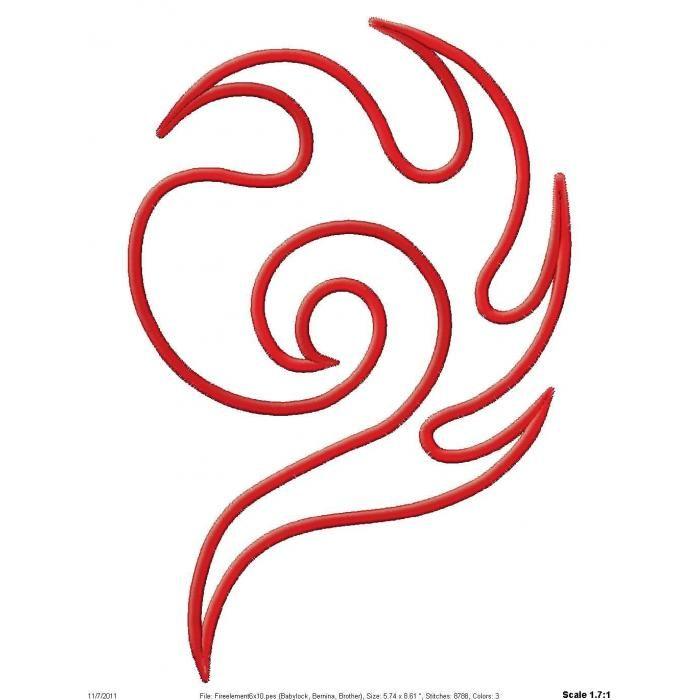 Fire Element Applique 772   stencils   Pinterest   Pintar en tela ...