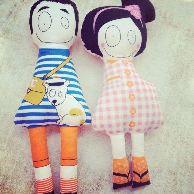Gorgeous Madame Mo dolls