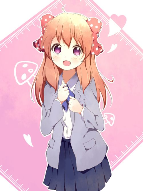 cute anime girl with orange hair