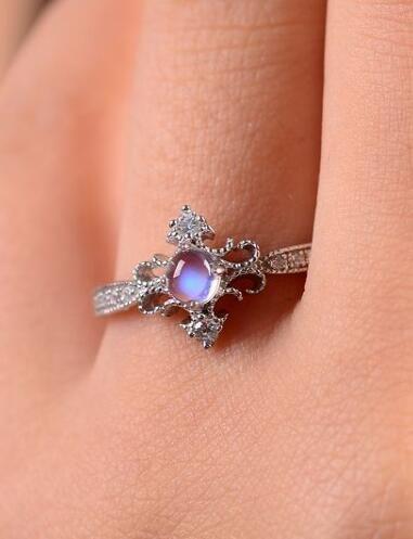 antique art deco blue moonstone promise ring http://www.jewelsin.com/p-delicate-princess-style-art-deco-moonstone-promise-ring-1485