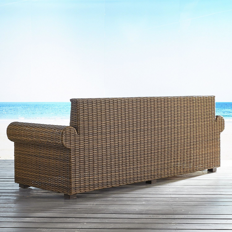 Echo Beach Latte Roll Arm Sofa  Brown