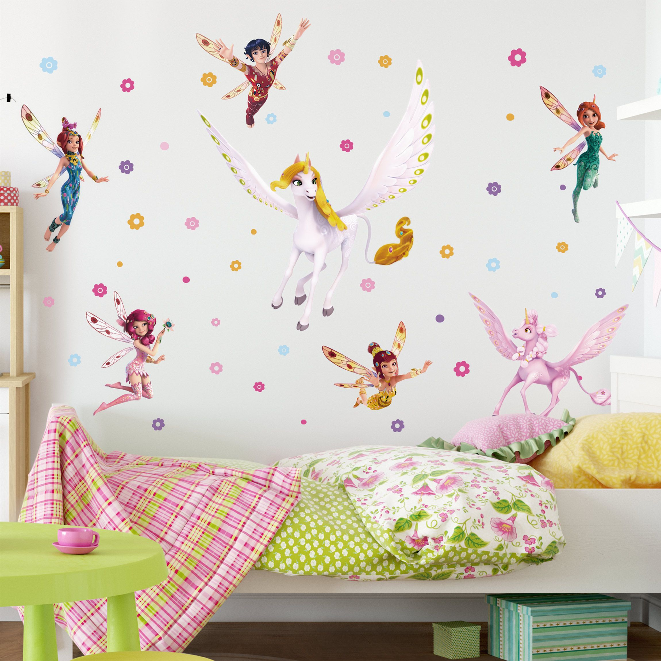 Wandtattoo Kinderzimmer Mia and Me - Sara, Onchao, Kyara mit den ...