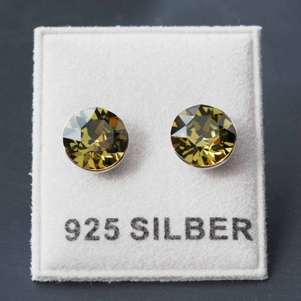 Silber ohrringe swarovski steinen