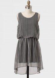 s'il vous plait bow back striped dress