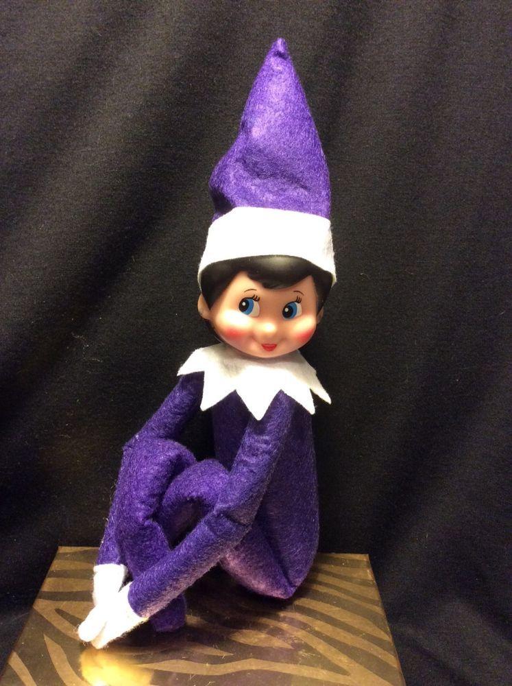 Purple Elf On The Shelf Look Alike Elf Toy Christmas Elf Elf Doll