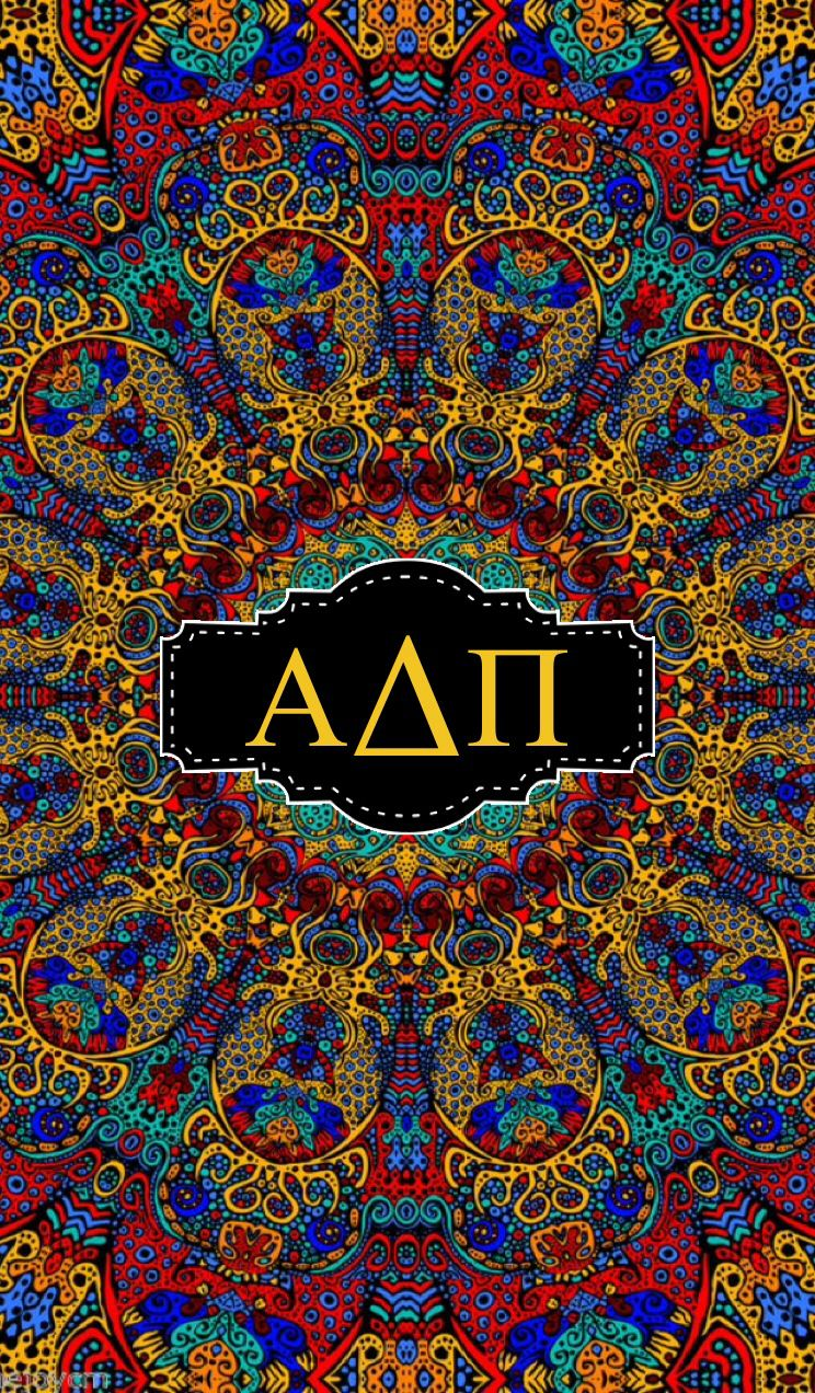 Alpha Delta Pi Iphone Monogram Background Psychedelic