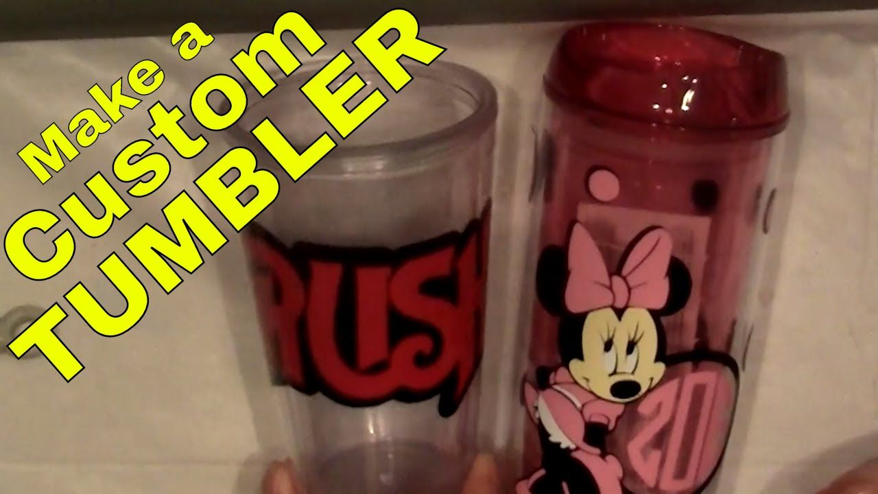 How To Make a Custom Cup or Tumbler With Vinyl Decals ...