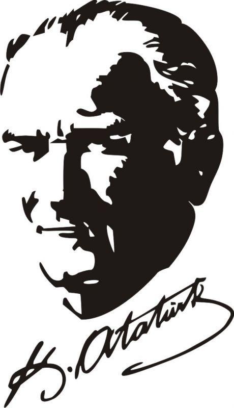 M Kemal Ataturk Resim Sablon Baski Gorsel Sanatlar