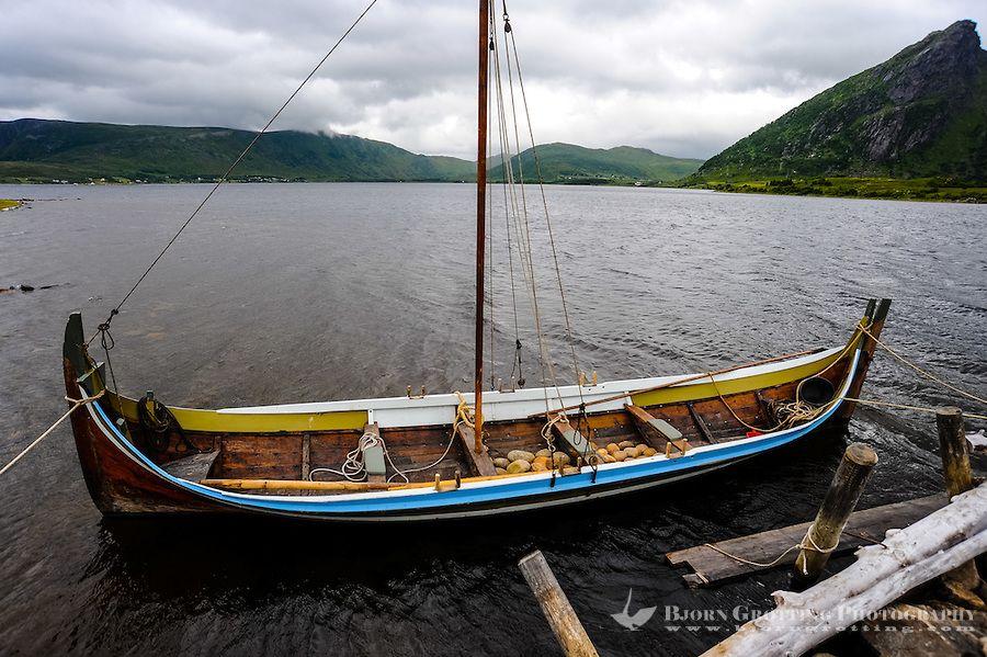 Norway lofoten the lofotr viking museum a traditional for Viking fishing boat