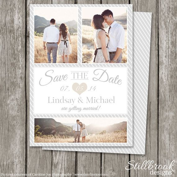 save the date template card - printable save the date photo card
