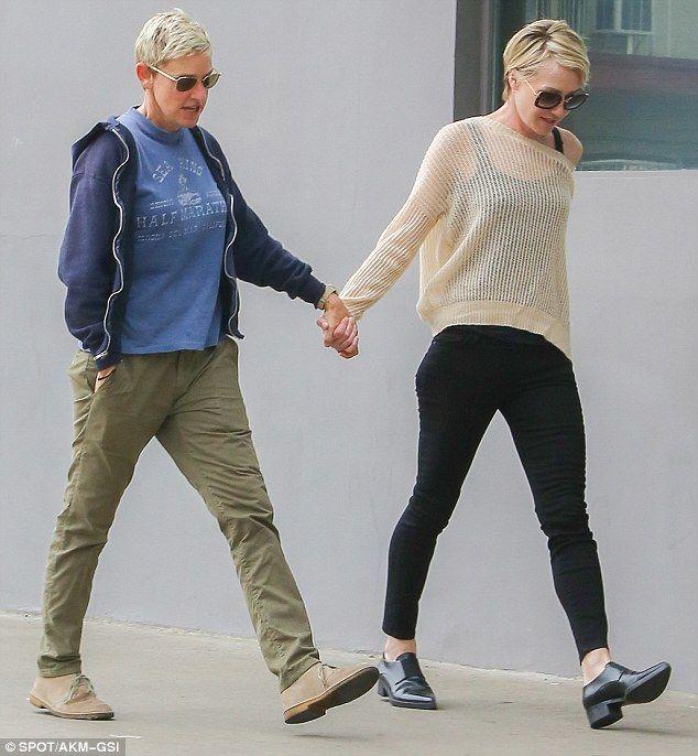 Portia De Rossi Model: Ellen DeGeneres And Portia De Rossi Hold Hands As They