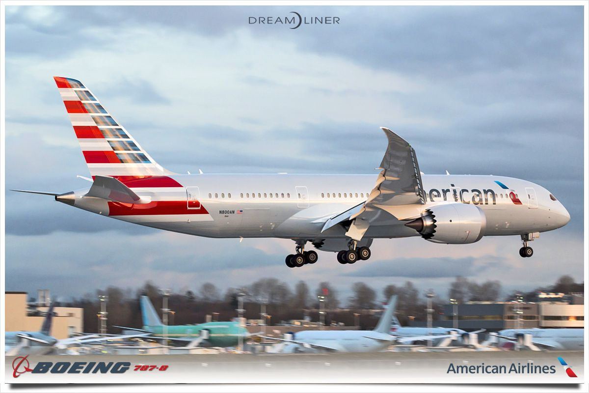 American Airlines first 7878 Dreamliner. americanair