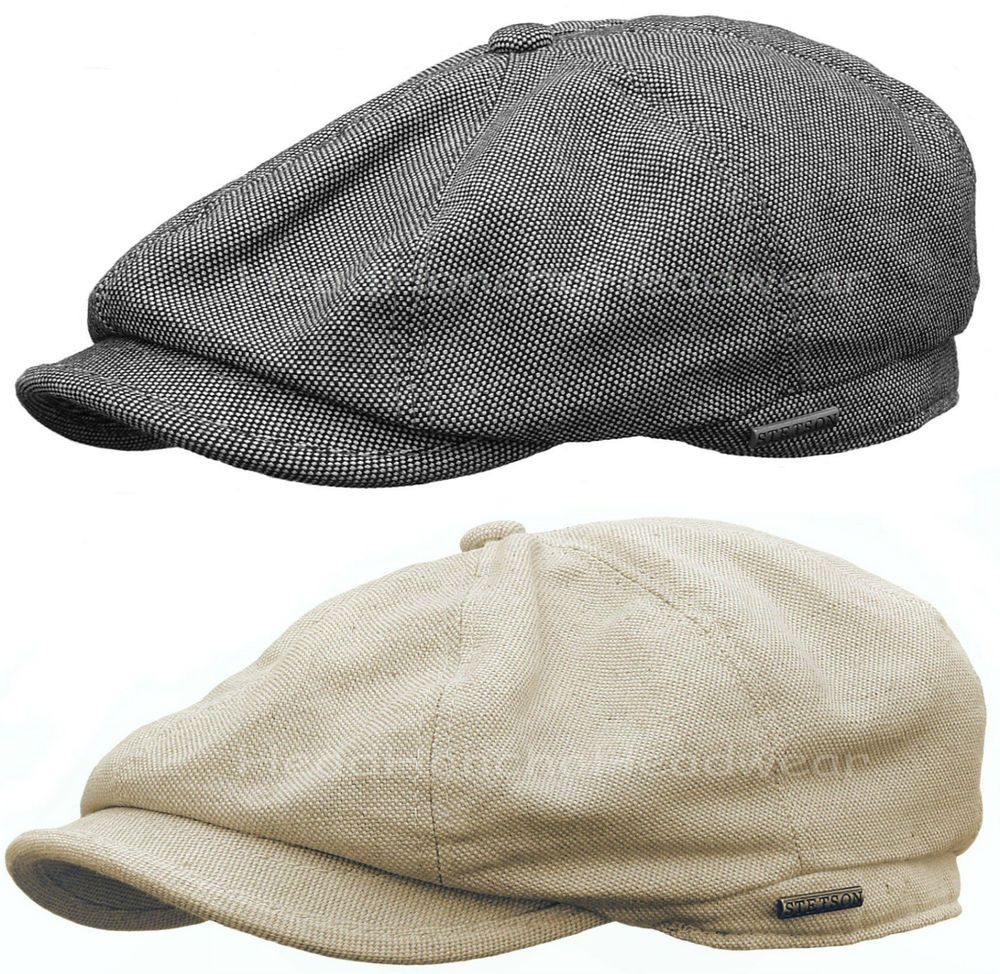 55cf30721a7d7 STETSON LINEN COTTON BLENDED GATSBY Cap Men Newsboy Ivy Hat Golf Driving  Cabbie