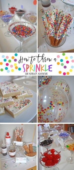 A Sprinkle Filled With Sprinkles Mini Baby Shower Party Ideas Ice Cream Party Sprinkle Party Sprinkles Birthday Party Sprinkle Baby Shower