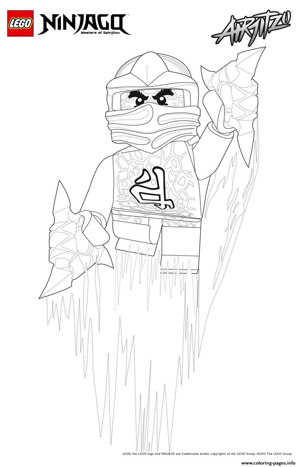 Print kai lego ninjago coloring