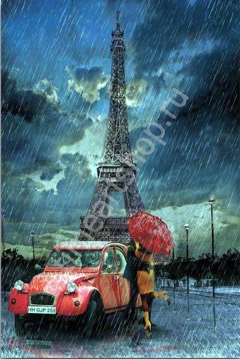 Свидание у Эйфелевой башни, картина раскраска по номерам ...