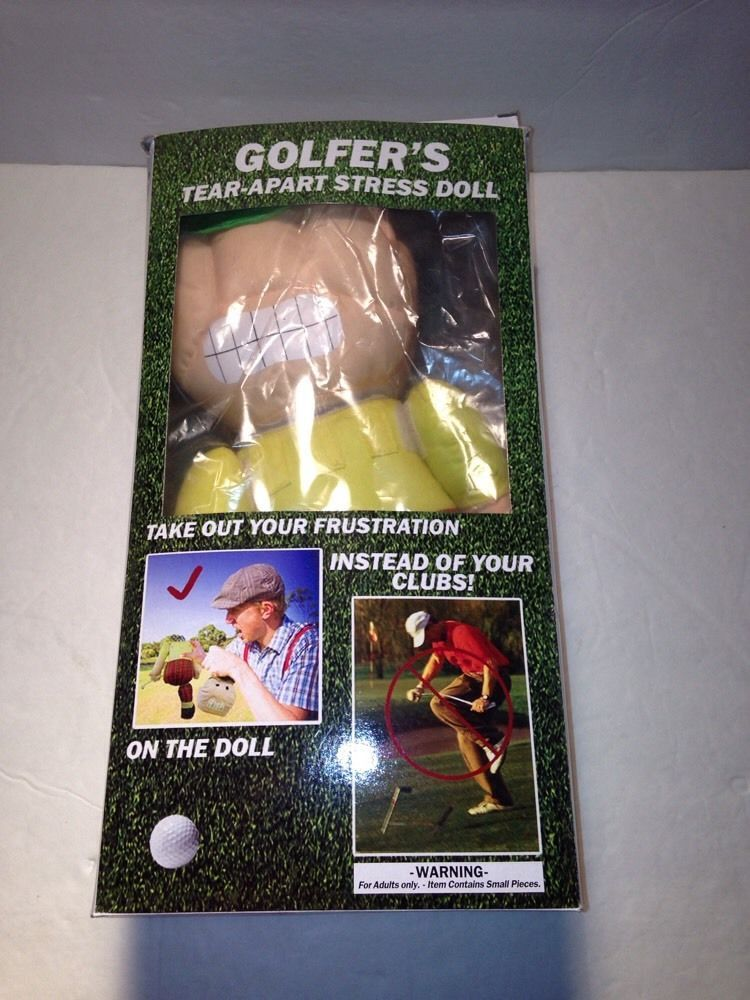 Golfer S Tear Apart Stress Relief Doll Toy Attaches To Golf Bag New