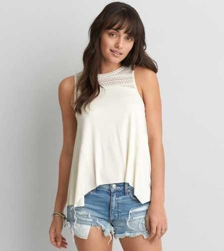 Camiseta sin mangas con canesú AEO Feather Light