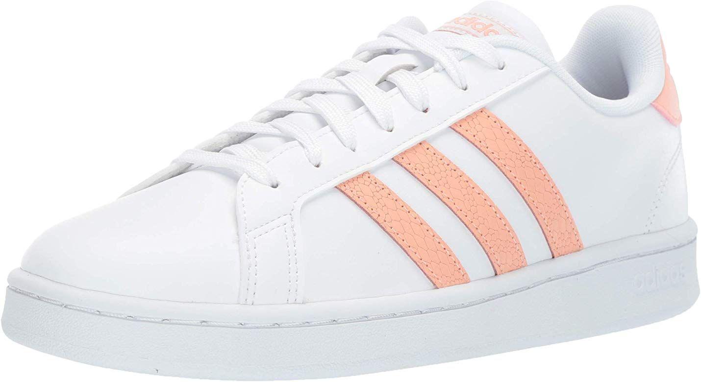  adidas Women's Grand Court, dust PinkWhite, 7