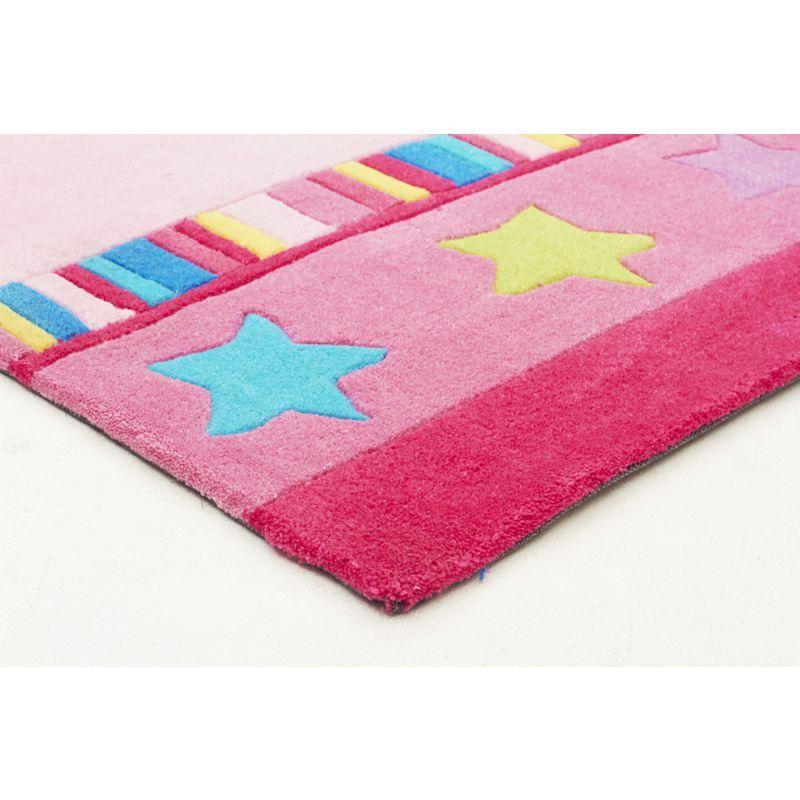 Pretty Girls Crown Rug Pink 165x115cm | Buy Rug Sale Under $150