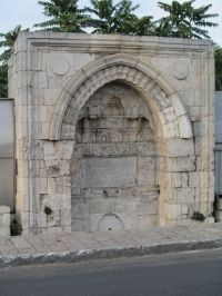*JERUSALEM, ISRAEL~ Roman aqueducts: Pools.The Sebil, a Muslim drinking fountain, along the Hebron road in Jerusalem, on top of the dam of the Sultan's Pool, to serve the pilgrims visiting the Temple Mount / Haram esh-Sharif.