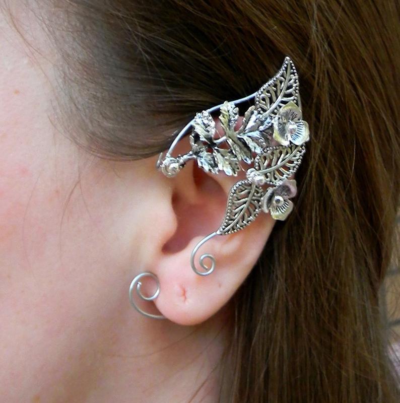 Elven Ears A Pair Earcuffs Elf Ears Cosplay Fantasy Decoration For Ears Elven Ear Ear Cuff Elvish Earring Elf Ear Ear Jewelry Ear Cuff Elf Ears