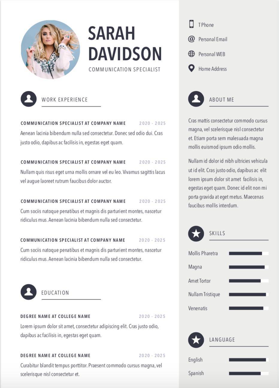 การเขียน Resume / CV ภาษาอังกฤษ / FP Executive Search