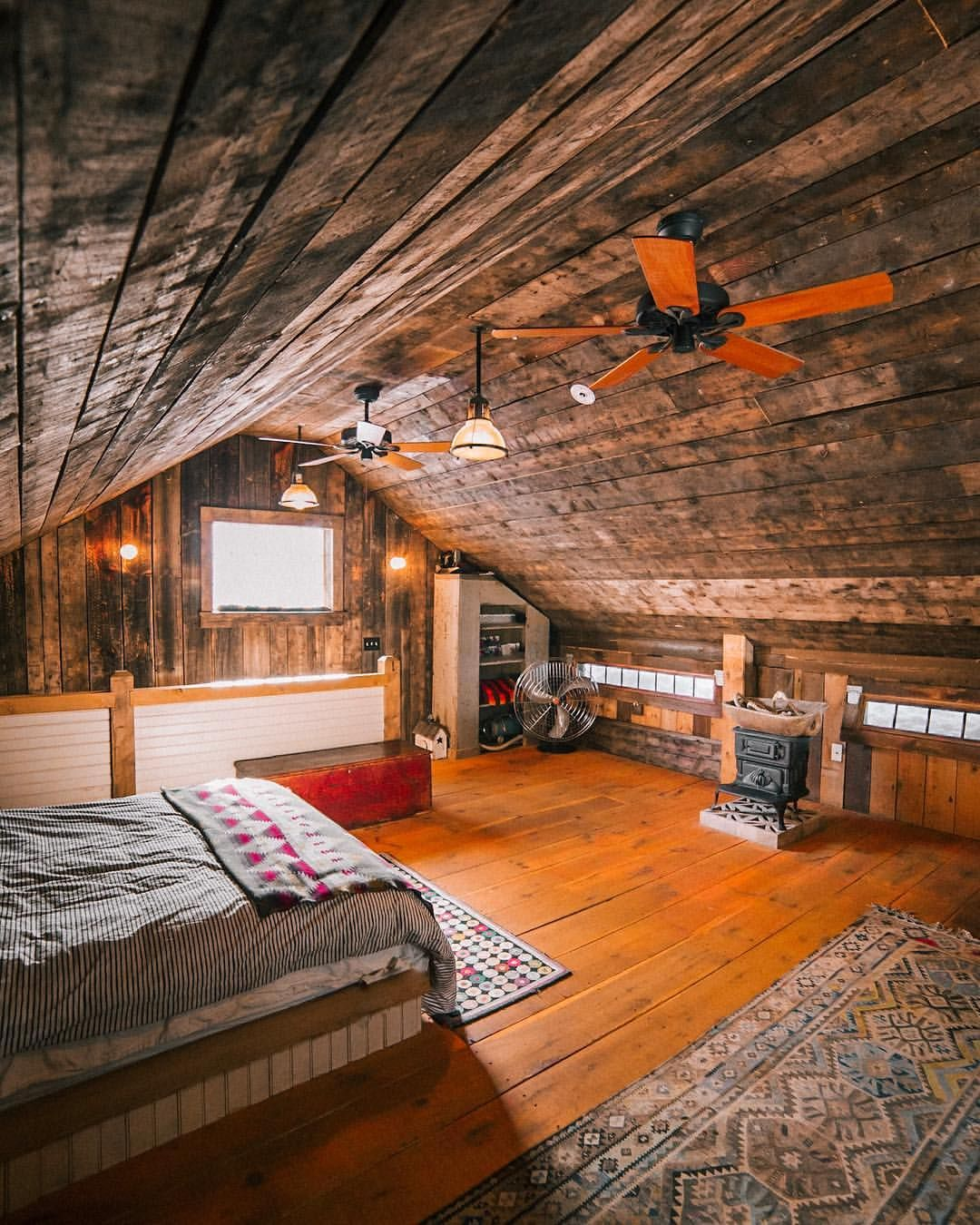 Hay is for horses, and barn lofts are for cozy cabin vibes ...