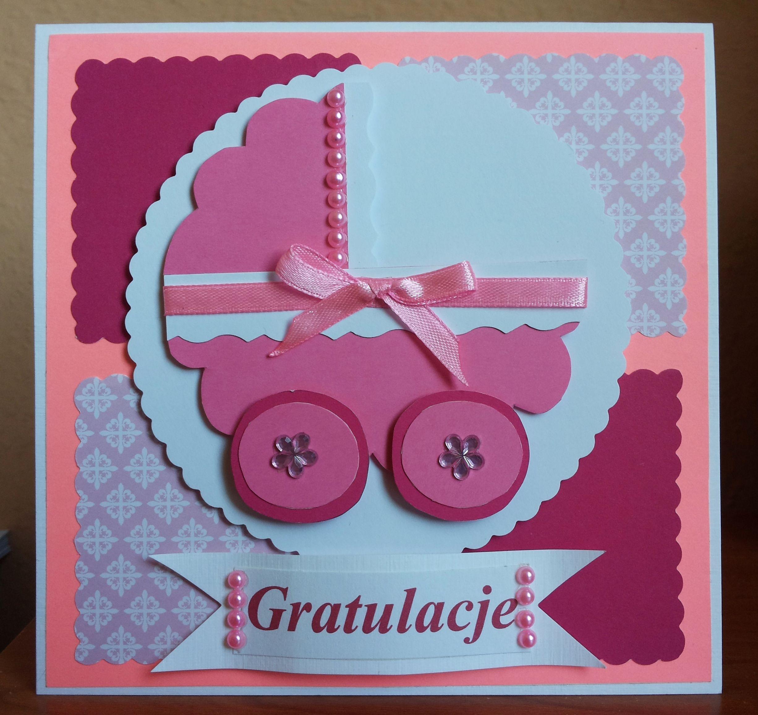 Card To Celebrate The Birth Of A Child Kartka Z Okazji Narodzin
