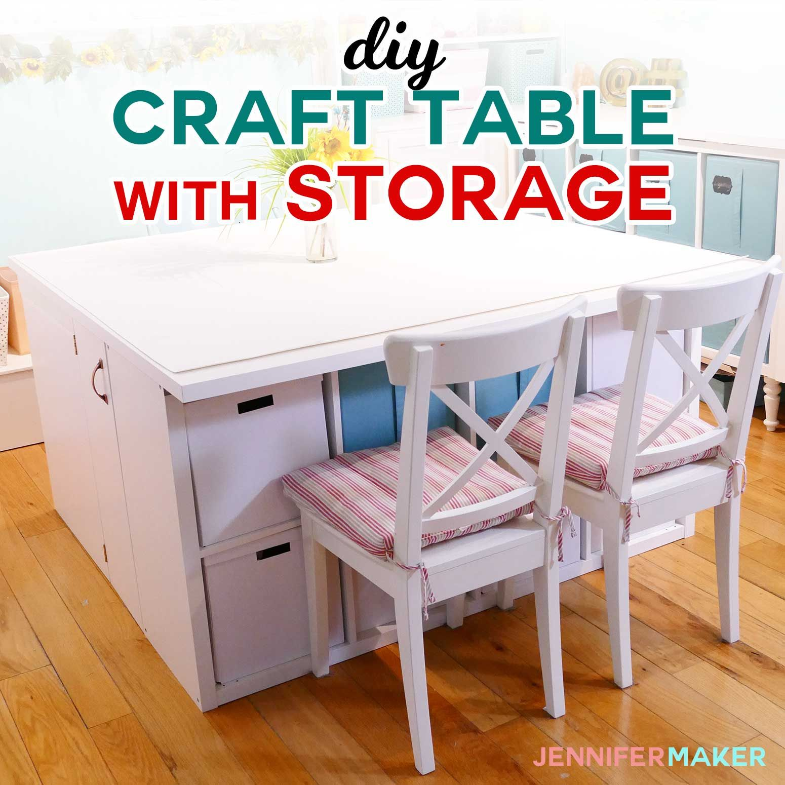 Diy craft table with storage my ikea hack craft tables
