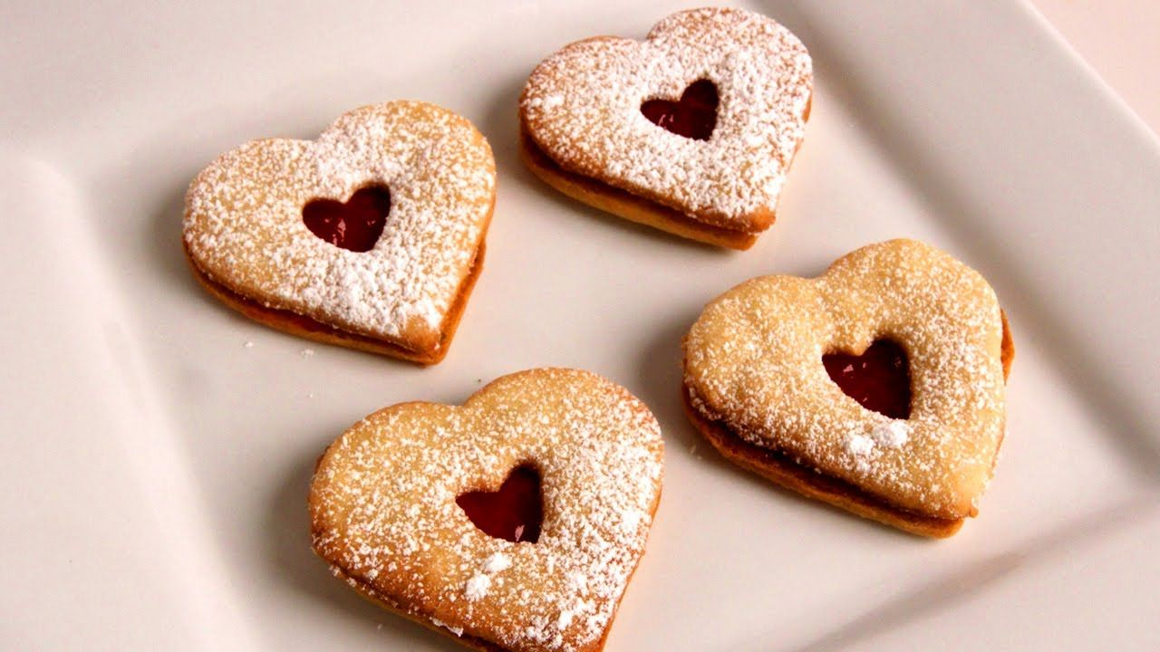 Linzer Cookies - Recipe - Laura Vitale - Laura in the Kitchen ...