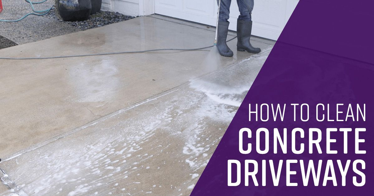 How To Clean Concrete Driveways Simple Green Cleaning Concrete Driveway Clean Concrete Concrete Cleaner