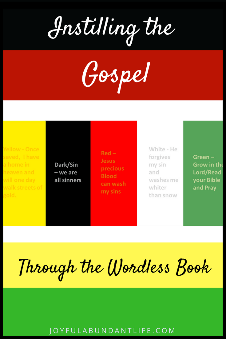So Many Ways to use The Wordless Book Gospel Colors To Instill The ...