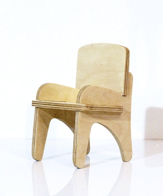 Wooden chair for doll 12 . Scale 1/6. Eko-friendly by alisontoys