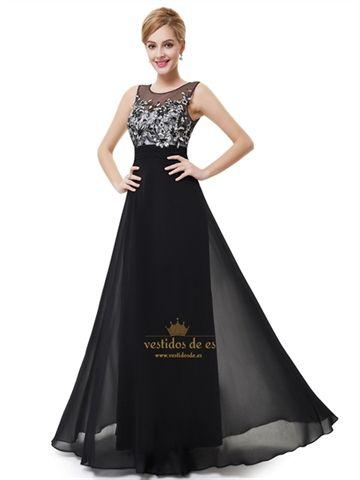 3deac4a48c Vestidos Baile Elegante Mujer De Verano De Para Eventos Largo Negro Elegante  2015 Vestidos De Fiesta