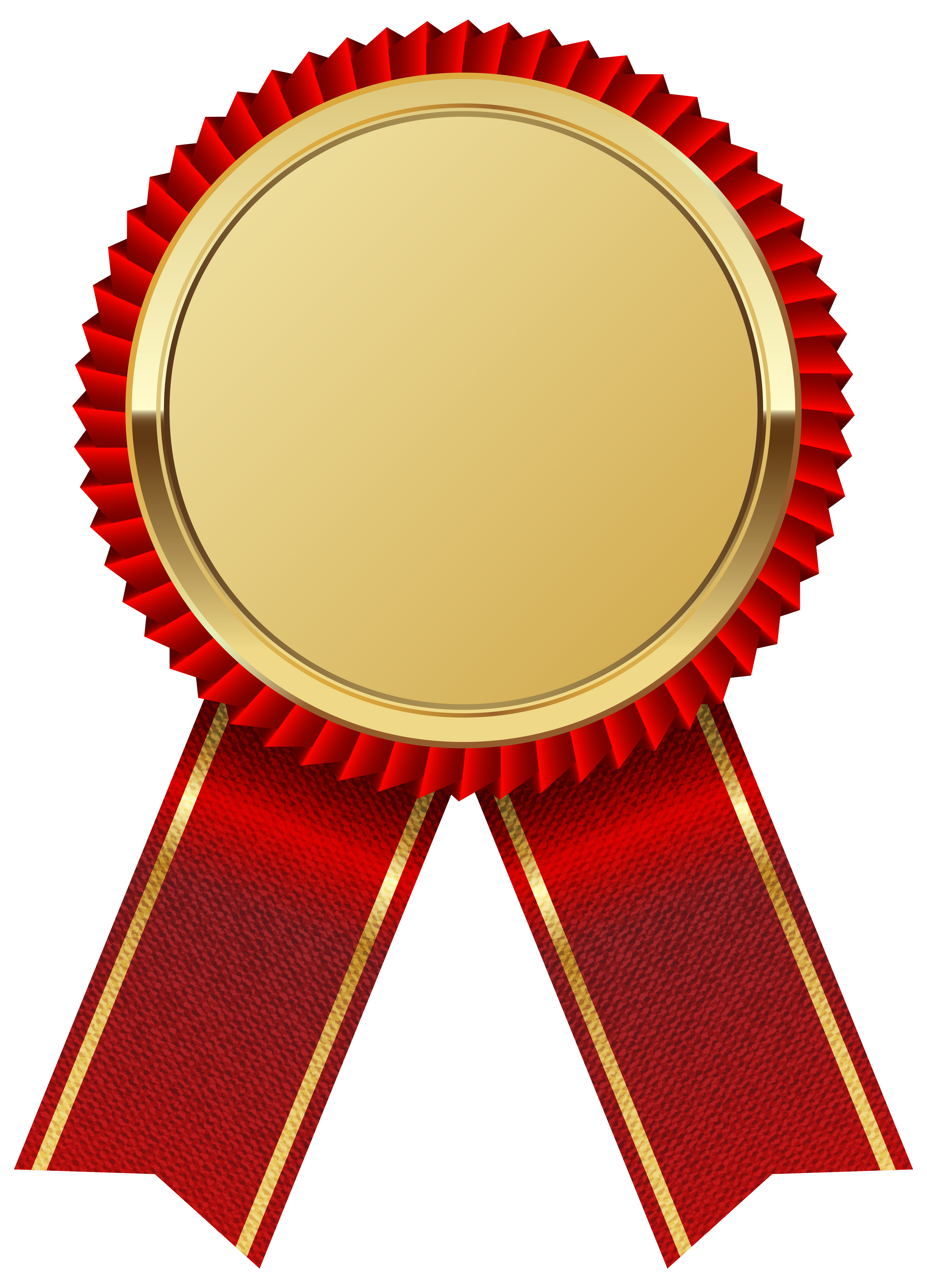 Gold Medal with Red Ribbon PNG Clipart Image Gallery