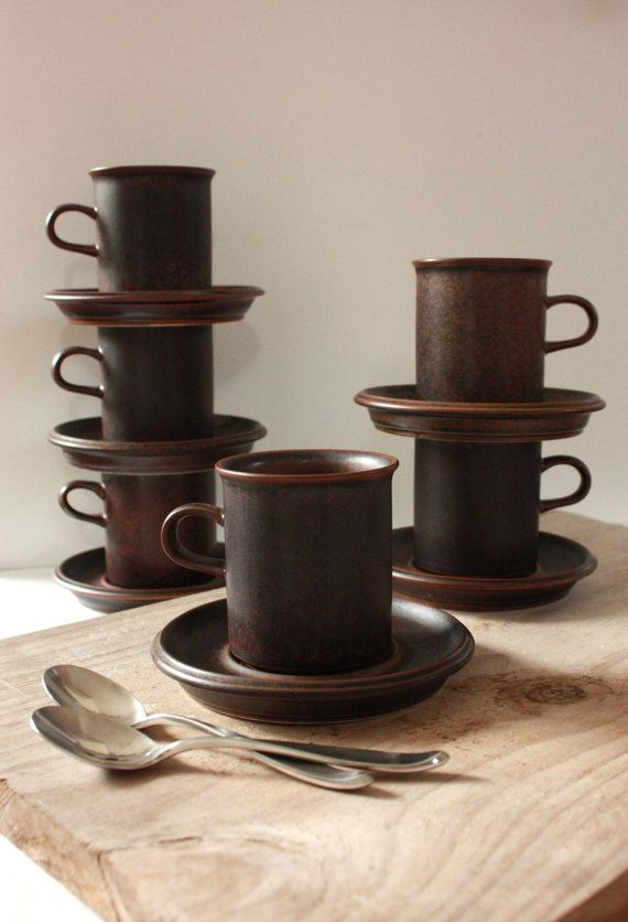 Arabia Ruska Demitasse Six Piece Coffee Set by TriBecasVintage $48.00 : ruska dinnerware - pezcame.com