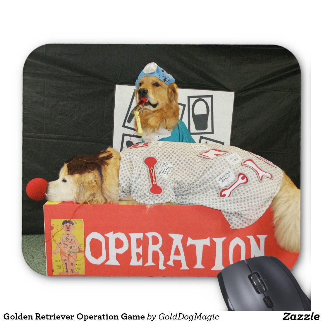 Golden Retriever Operation Game Mouse Pad   Zazzle com
