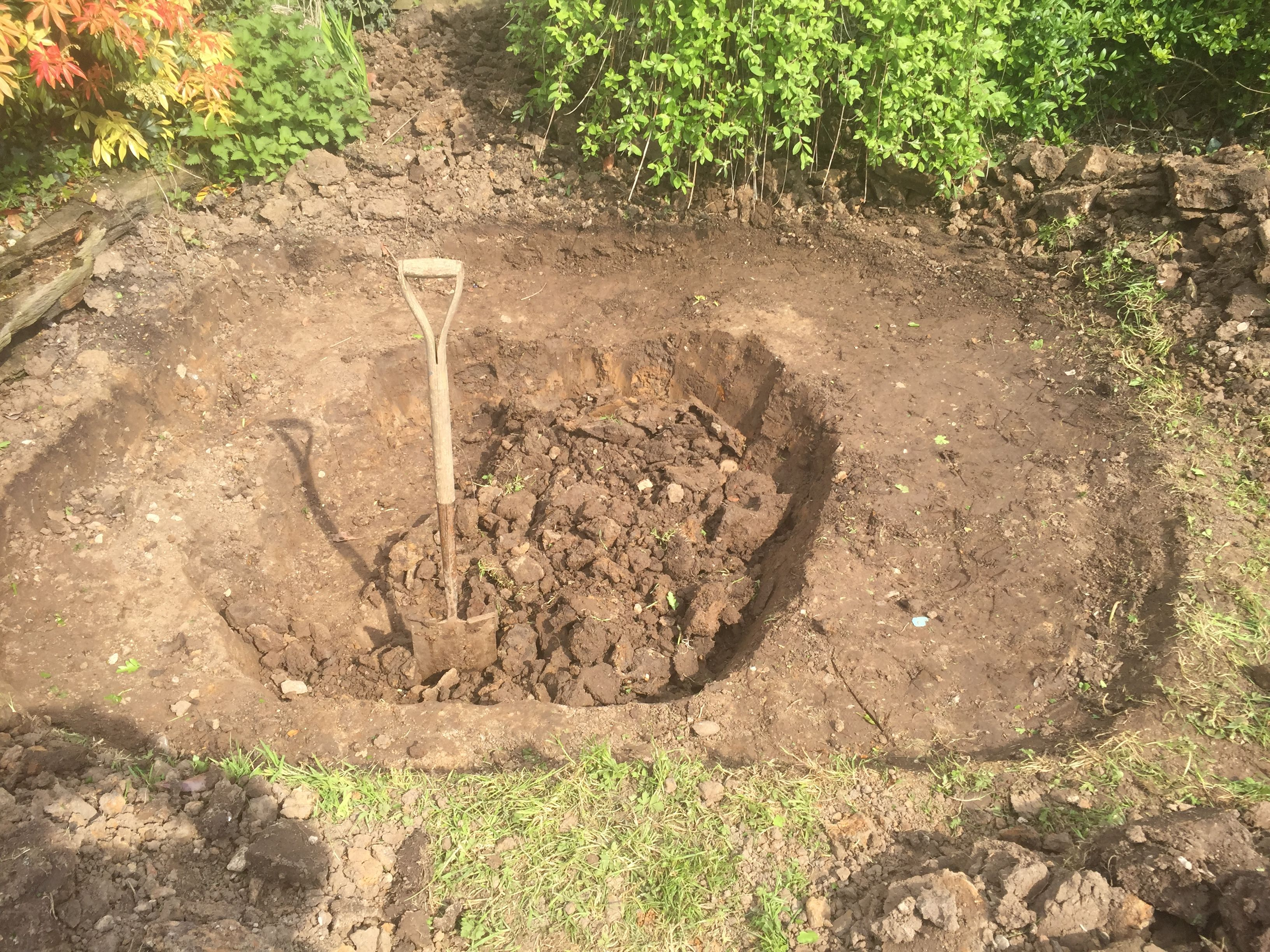 Stage 2 bog garden finished and now working on the pond. More on ...