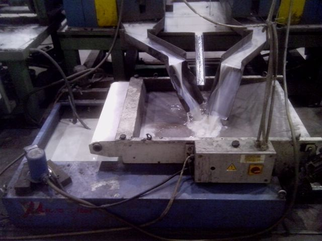 MicronfilterUSA Easyband Coolant Filter on a Blanchard Grinder